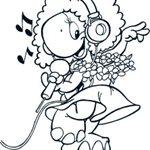 Kleurplaat Caatje - I love singing