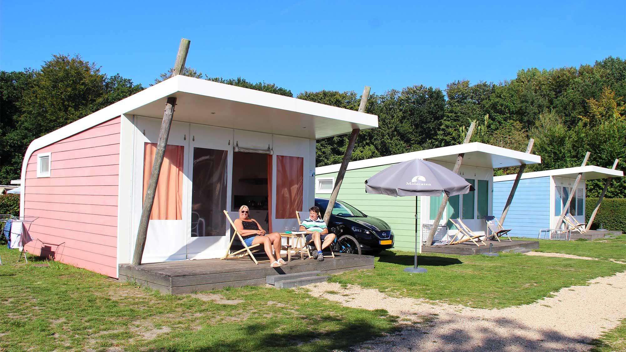 5pers kampeer cabin Vlinder Molecaten Park Waterbos 01